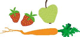 Porkkana-mansikat-omena