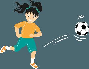 Tytto pelaa jalkapalloa